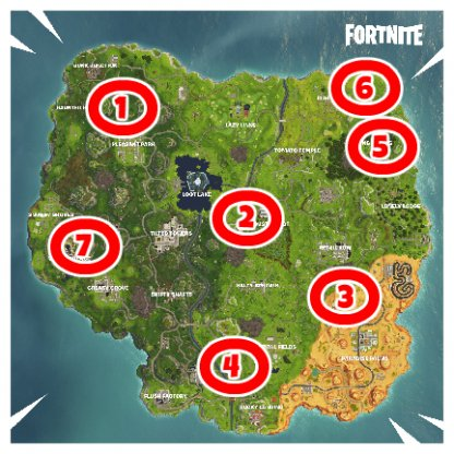 Fortnite Shooting Gallery Locations