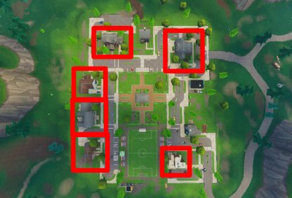 Fortnite Season 6 Week 4 Challenge Doorbell Location Pleasant Park