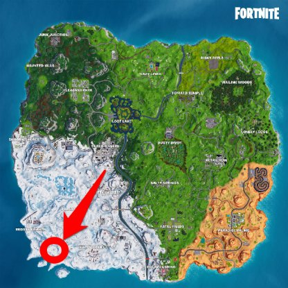 Season 7 Week 5 Secret Battle Star Location Map